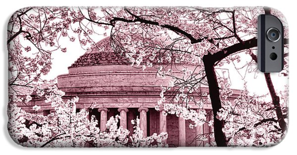 Pink Cherry Trees At The Jefferson Memorial IPhone 6s Case by Olivier Le Queinec