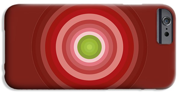 Pink Circles IPhone Case by Frank Tschakert