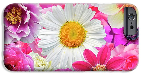 Pink Flowers  IPhone 6s Case by Gloria Sanchez
