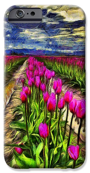 Pink Impression 2 IPhone Case by Mark Kiver