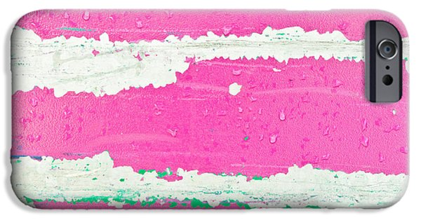 Pink Metal Background IPhone Case by Tom Gowanlock