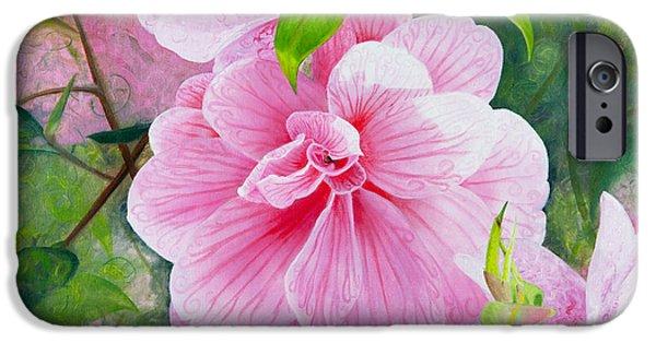 Pink Swirl Garden IPhone Case by Shelley Irish