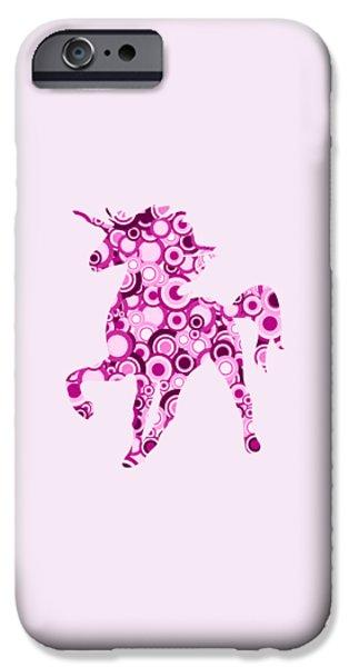 Pink Unicorn - Animal Art IPhone Case by Anastasiya Malakhova