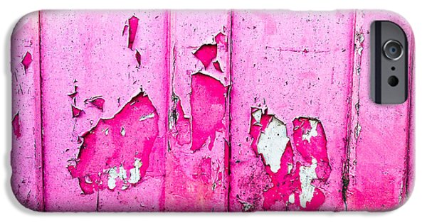 Pink Wood With Peeling Paint  IPhone Case by Tom Gowanlock