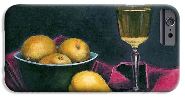 Pinot And Pears Still Life IPhone Case by Janet King