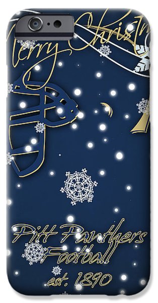Pitt Panthers Christmas Cards IPhone 6s Case by Joe Hamilton