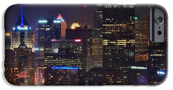 Pittsburgh Close Up From Above IPhone Case by Frozen in Time Fine Art Photography