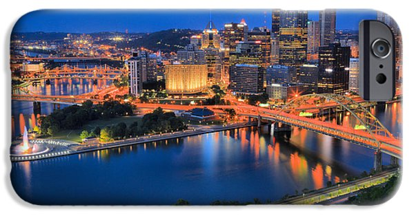 Pittsburgh Evening Glow IPhone Case by Adam Jewell