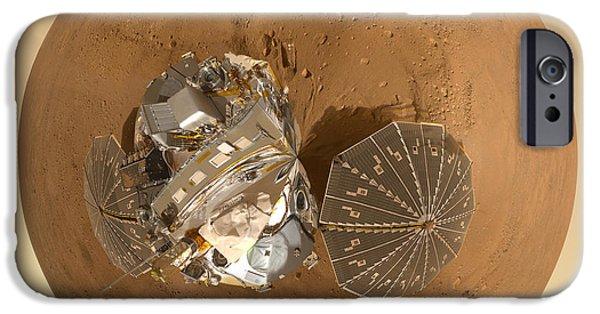 Planet Mars Via Phoenix Mars Lander IPhone Case by Nikki Marie Smith