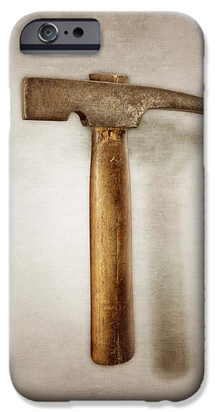 Plumb Masonry Hammer IPhone Case by YoPedro