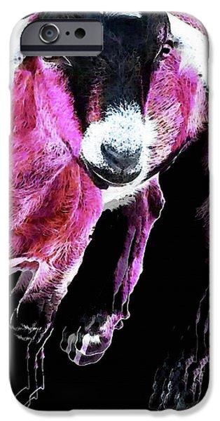 Pop Art Goat - Pink - Sharon Cummings IPhone 6s Case by Sharon Cummings