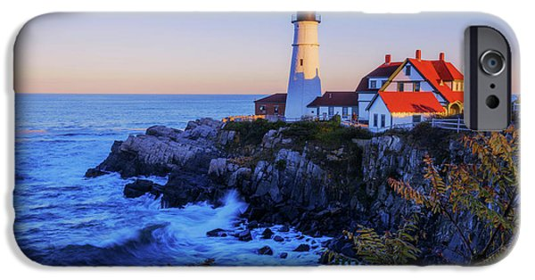 Portland Head Light II IPhone Case by Chad Dutson
