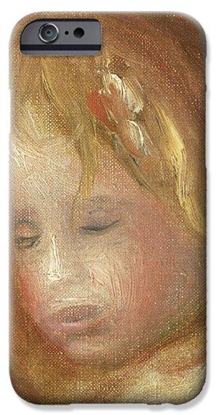 Portrait Of A Child IPhone Case by Pierre Auguste Renoir
