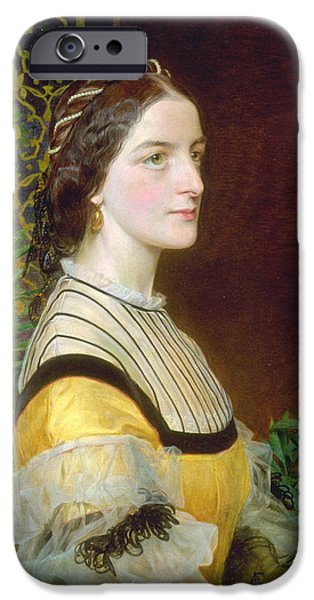Portrait Of A Lady IPhone Case by Frederick Sandys