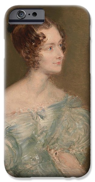 Portrait Of A Woman, Probably Mrs. Price Of Rugby IPhone Case by John Linnell