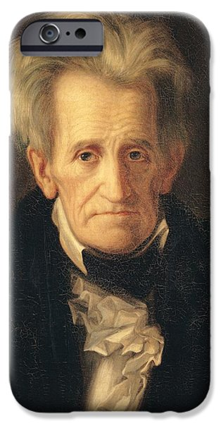 Portrait Of Andrew Jackson IPhone Case by George Peter Alexander Healy