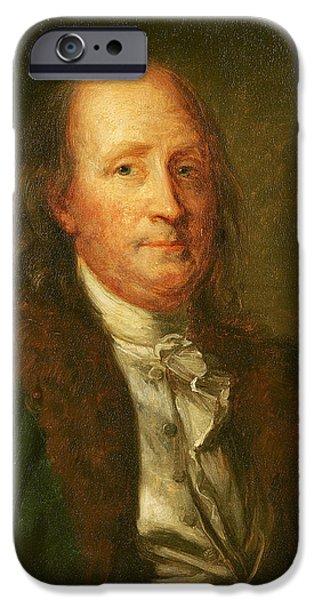 Portrait Of Benjamin Franklin IPhone Case by George Peter Alexander Healy