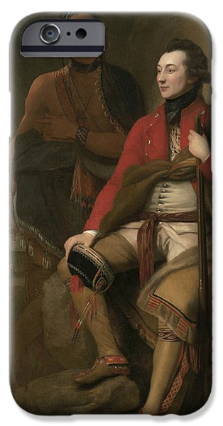 Portrait Of Colonel Guy Johnson IPhone Case by Benjamin West