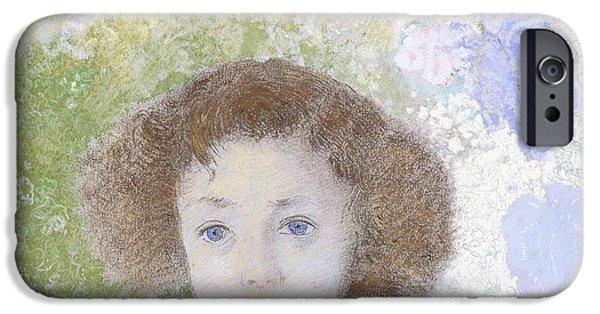 Portrait Of Genevieve De Gonet As A Child IPhone Case by Odilon Redon