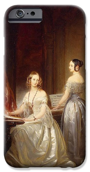 Portrait Of Grand Princesses Olga Nikolayevna IPhone Case by Christina Robertson