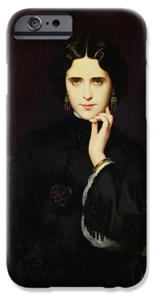Portrait Of Jeanne De Tourbay IPhone Case by Eugene Emmanuel Amaury-Duval