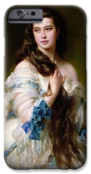 Portrait Of Madame Rimsky Korsakov IPhone Case by Franz Xaver Winterhalter