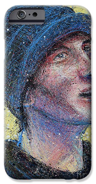 Portrait Of Man  IPhone Case by Michael Glass