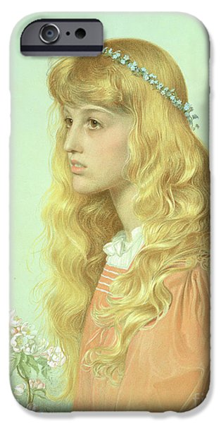 Portrait Of Miss Adele Donaldson, 1897 IPhone 6s Case by Anthony Frederick Augustus Sandys