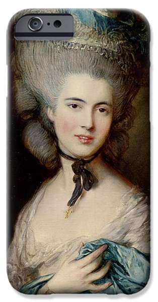 Portrait Of The Duchess Of Beaufort IPhone Case by Thomas Gainsborough