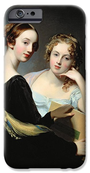 Portrait Of The Mceuen Sisters IPhone Case by Thomas Sully