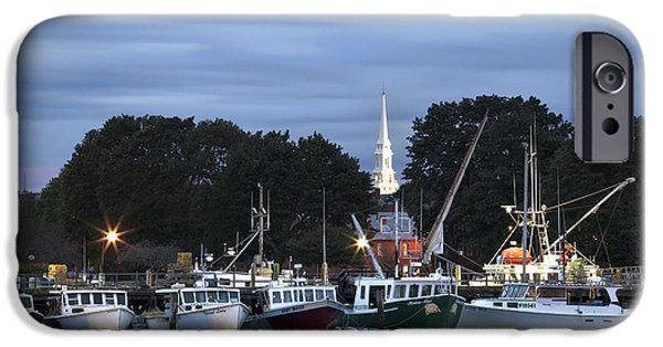 Portsmouth Fish Pier IPhone Case by Eric Gendron