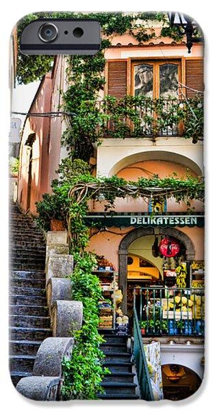 Positano Shopping IPhone Case by Jon Berghoff