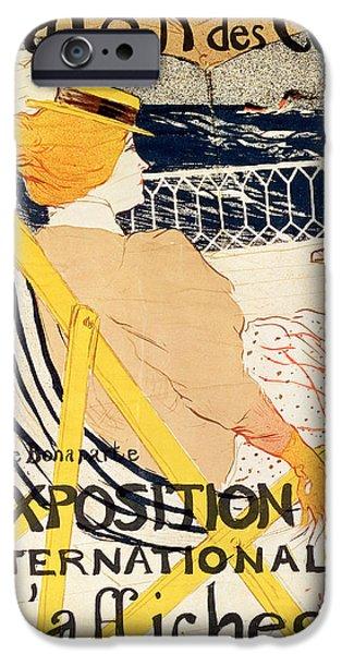 Poster Advertising The Exposition Internationale Daffiches Paris IPhone Case by Henri de Toulouse-Lautrec