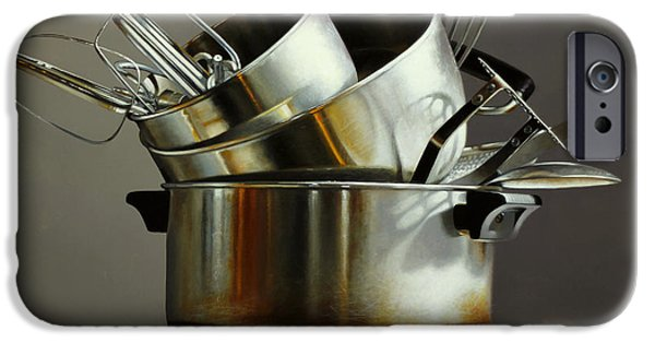 Pots And Pans IPhone Case by Larry Preston
