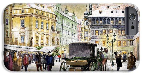 Prague Old Town Square Winter IPhone Case by Yuriy  Shevchuk