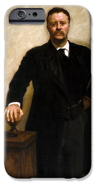 President Theodore Roosevelt Painting IPhone Case by War Is Hell Store