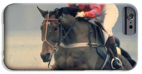 Princess Anne Riding Cnoc Na Cuille At Kempten Park IPhone Case by Travel Pics