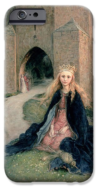 Princess With A Spindle IPhone Case by Hanna Pauli