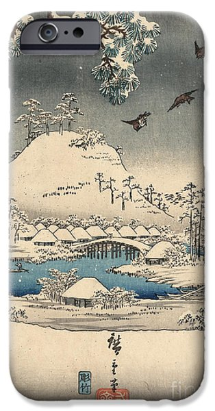 Print From The Tale Of Genji IPhone Case by Hiroshige