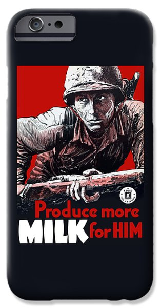 Produce More Milk For Him - Ww2 IPhone Case by War Is Hell Store