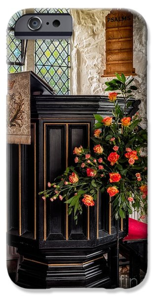 Pulpit And Flowers IPhone Case by Adrian Evans