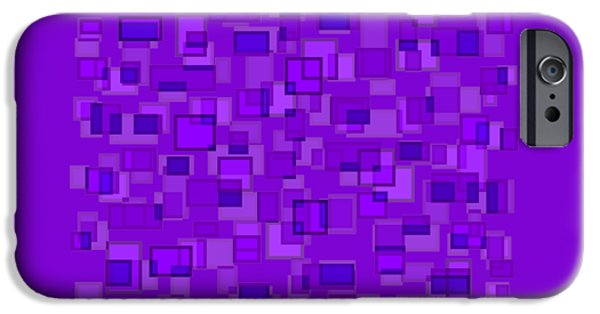 Purple Abstract IPhone Case by Frank Tschakert