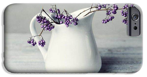 Purple Berries IPhone Case by Nailia Schwarz