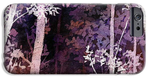 Purple Forest IPhone Case by Hailey E Herrera