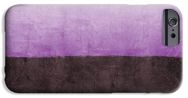 Purple On The Horizon- Art By Linda Woods IPhone Case by Linda Woods