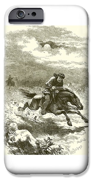 Pursuit Of Paul Revere IPhone Case by English School