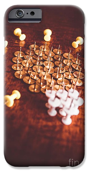Pushpins And Thumbtacks Arranged As Light Bulb IPhone Case by Jorgo Photography - Wall Art Gallery