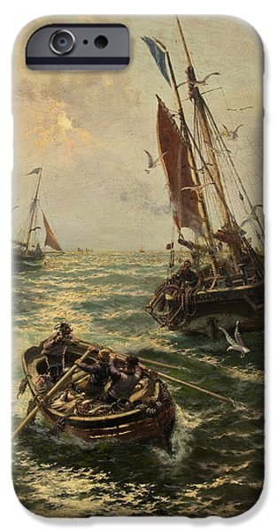 Putting The Catch Ashore IPhone Case by Thomas Rose Miles