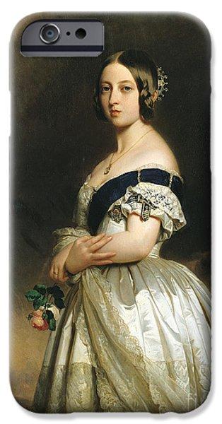 Queen Victoria IPhone Case by Franz Xaver Winterhalter