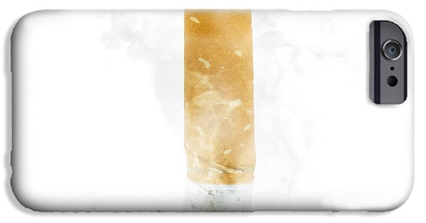 Quit Smoking With Stubbed Out Cigarette On White IPhone Case by Jorgo Photography - Wall Art Gallery